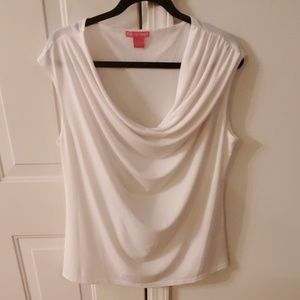 Sunny Leigh Tops - White cowl neck blouse